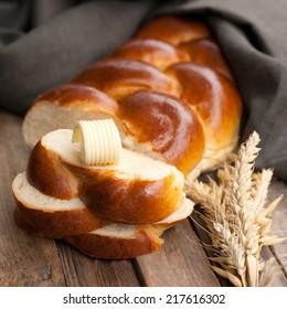 Fresh braided bread