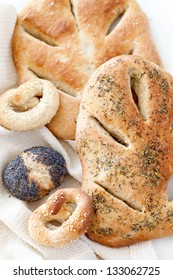 Fresh Bread with French herbs and buns