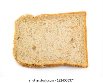 fresh bread isolated on white background. (Healthy Food)