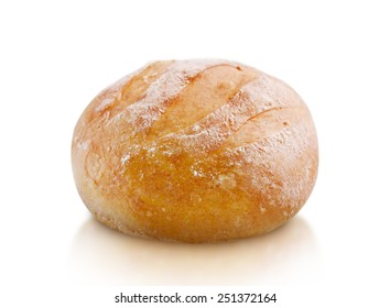 fresh bread isolated on white background, clipping path and alpha channel included.