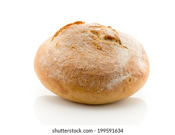 Fresh  bread on a isolated background. Studio photography.