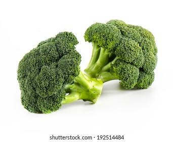 Fresh broccoli isolate on white background