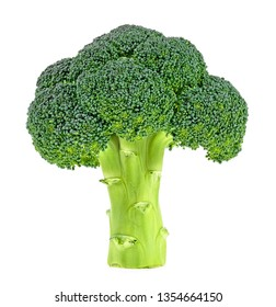 Fresh broccoli isolated on a white background. Full depth of field.