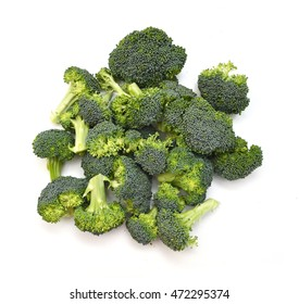 Fresh broccoli isolated on white background - Shutterstock ID 472295374