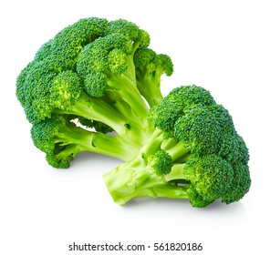 Fresh broccoli isolated on white background