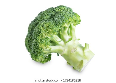 Fresh broccoli on a white isolated background. toning. selective focus