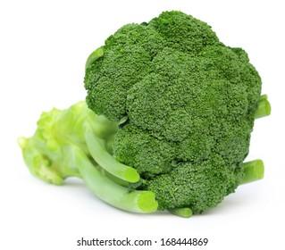 Fresh Broccoli over white background
