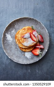 Fresh brunch pancakes with berries