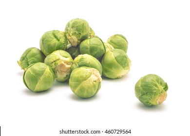 fresh brussel cabbage isolated