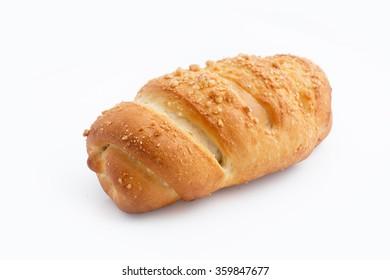 Fresh bun on white background