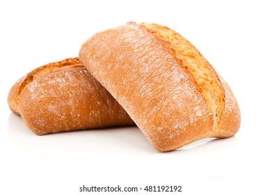 fresh bun on a white background
