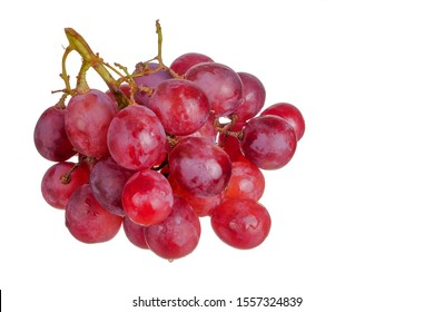 Fresh bunch of grapes isolated on white background