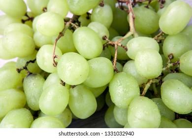 fresh bunch green grape kish-mish grapes