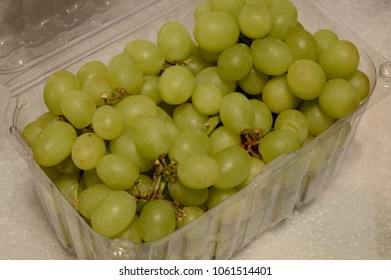 Fresh bunch of green seedless grapes.
