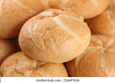 Fresh buns. Closeup.