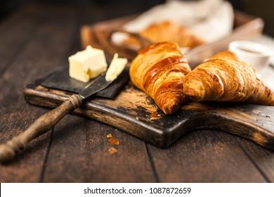 Fresh butter croissants