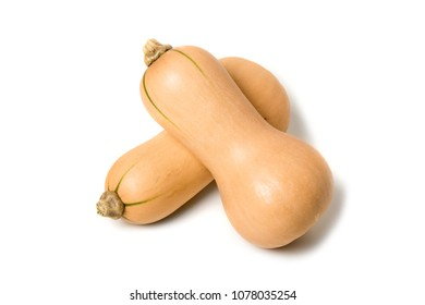fresh butternut squash isolated over white background