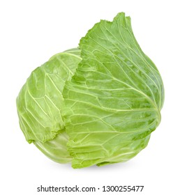 Fresh cabbage isolated on white with clipping path