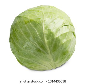 fresh cabbage vegetable isolated on white background