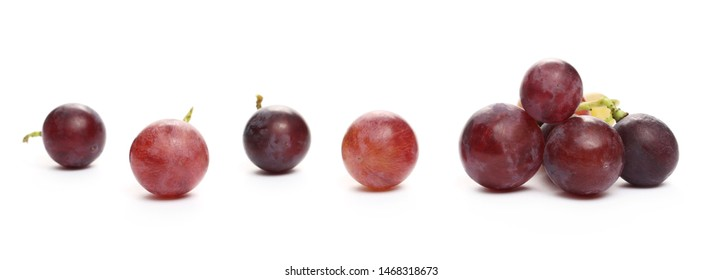 Fresh Cardinal grapes isolated on white background