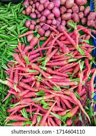 fresh carrot and beans  from ema khetal womens market Imphal Manipur