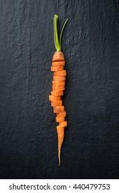 Fresh Carrot cutting