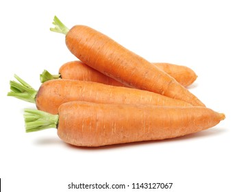 Fresh carrot on a white background