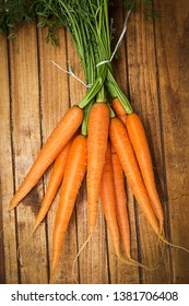 Fresh Carrots on the table