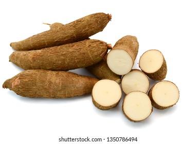 Fresh Cassava isolated on a white background