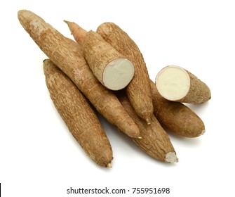Fresh Cassava isolated on a white background