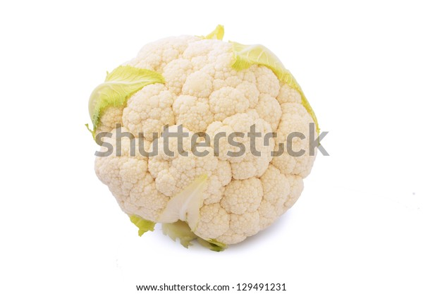 Fresh cauliflower isolated on white background