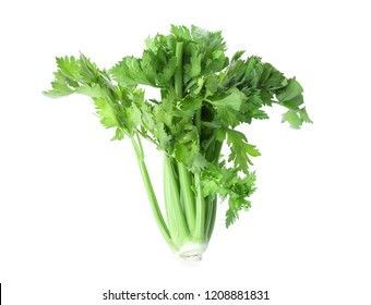 Fresh celery on white background