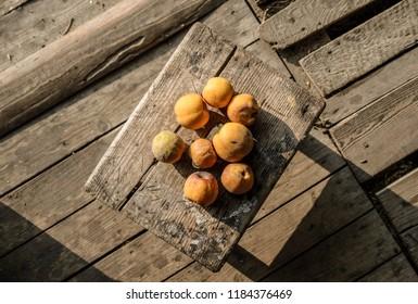 Fresh Chaenomeles from the garden - Shutterstock ID 1184376469