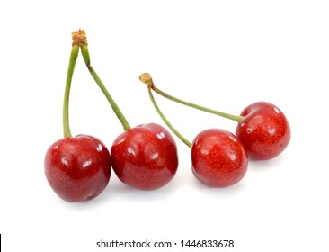 Fresh cherry fruit on white background