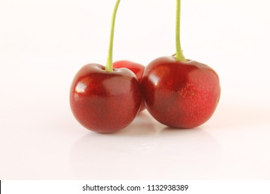 fresh cherry fruit in white background