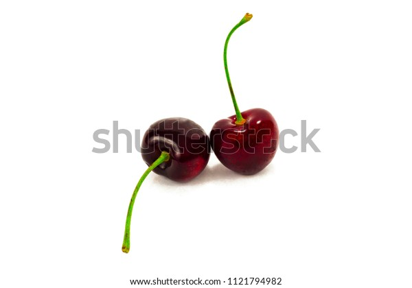 fresh cherry isolated on white background
