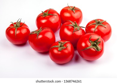 Fresh cherry tomatoes on a table