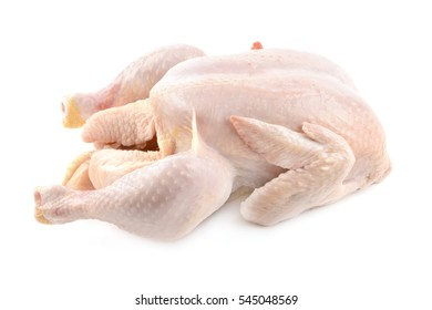 fresh chicken on the white isolated background