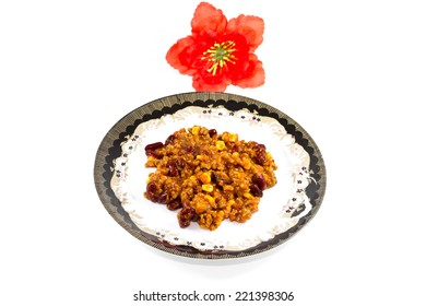 Fresh Chili con Carne on Plate