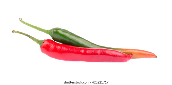 Fresh chili isolated on white background