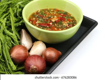 Fresh chili paste Thai food