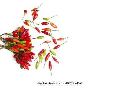 Creative pink yellow flowergreen leaflimb one stock photo edit now fresh chili peppers various kinds on white space for advertising text selective focus mightylinksfo