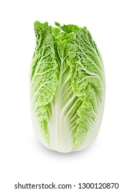 Fresh chinese cabbage on a white background, Save clipping path.
