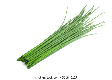 Fresh  Chives bunch  isolated on white background