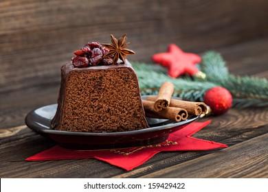 fresh chocolate cake for christmas