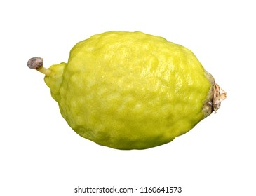 Fresh Citron isolated on white background. Copy space