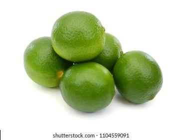 fresh Citrus lime fruit isolated on white background