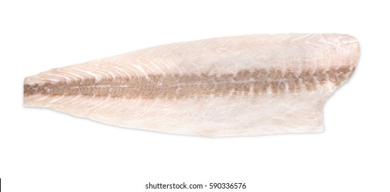 Fresh cobia fillet on a white background