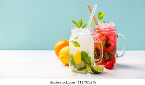 Fresh cocktail drinks