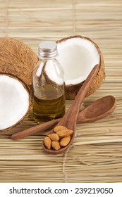 Fresh Coconut with Oil